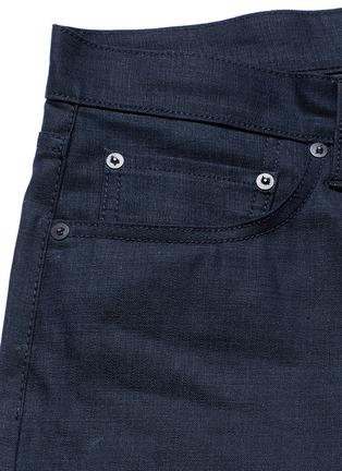 - Simon Miller - 'Gunnison' dark indigo slim cotton jeans