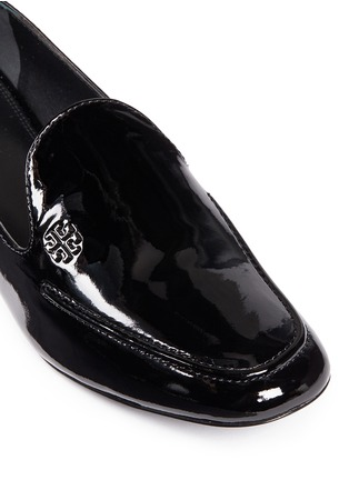 Detail View - Click To Enlarge - Tory Burch - 'Dominique' patent leather loafers