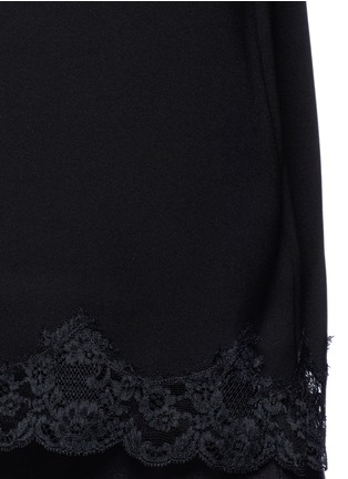 Detail View - Click To Enlarge - THEORY - 'Sakshee' scalloped lace hem crepe camisole