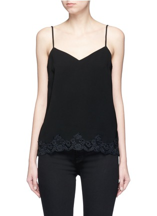 Main View - Click To Enlarge - THEORY - 'Sakshee' scalloped lace hem crepe camisole