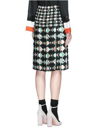Back View - Click To Enlarge - Emilio Pucci - 'Monreale' print pleat sablé skirt