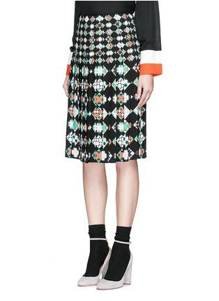 Front View - Click To Enlarge - Emilio Pucci - 'Monreale' print pleat sablé skirt
