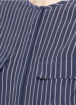 Detail View - Click To Enlarge - Equipment - 'Lynn' stripe silk shirt