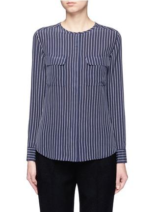 Main View - Click To Enlarge - Equipment - 'Lynn' stripe silk shirt