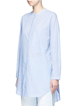 Front View - Click To Enlarge - Equipment - 'Elsie' stripe cotton tunic shirt
