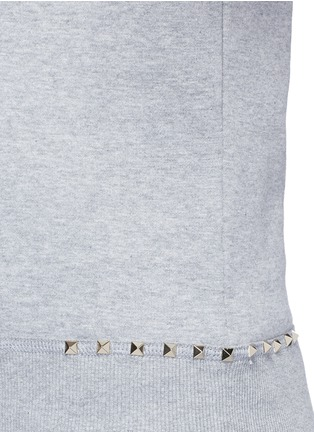 Detail View - Click To Enlarge - Valentino - 'Rockstud Untitled 08' cotton blend sweatshirt