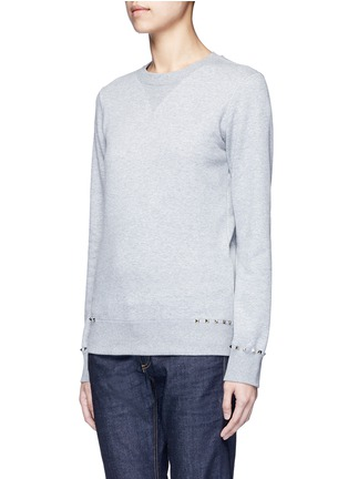 Front View - Click To Enlarge - Valentino - 'Rockstud Untitled 08' cotton blend sweatshirt