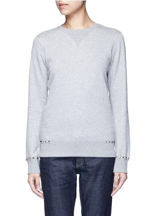 Main View - Click To Enlarge - Valentino - 'Rockstud Untitled 08' cotton blend sweatshirt
