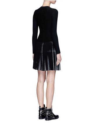 Back View - Click To Enlarge - Alaïa - 'Seguidille' plissé pleat knit long sleeve dress