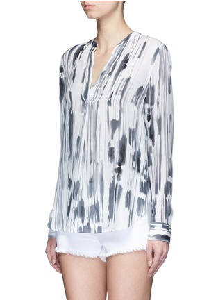 Front View - Click To Enlarge - Vince - 'Cascade' ink print silk georgette shirt