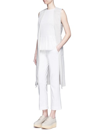 Figure View - Click To Enlarge - Theory - 'Avla' stretch twill flare pants