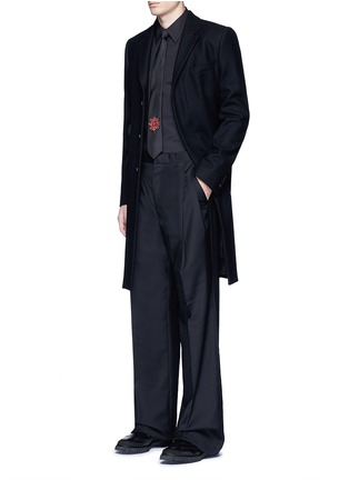 Figure View - Click To Enlarge - Alexander McQueen - Slim fit harness cotton shirt