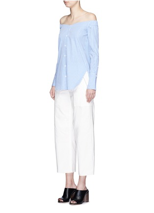 Figure View - Click To Enlarge - rag & bone - 'Grace' canvas cropped pants