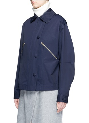 Front View - Click To Enlarge - STELLA MCCARTNEY - Zip pocket technical parka jacket