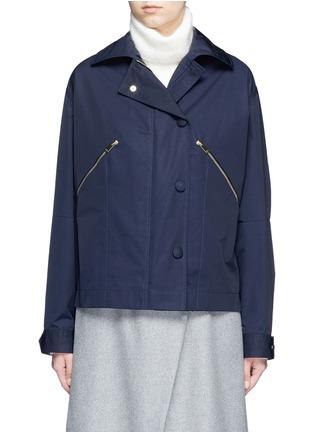 Main View - Click To Enlarge - STELLA MCCARTNEY - Zip pocket technical parka jacket
