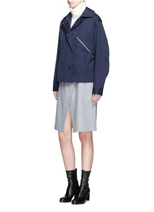 Figure View - Click To Enlarge - STELLA MCCARTNEY - Zip pocket technical parka jacket