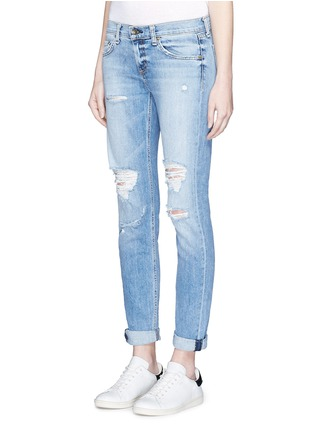 Front View - Click To Enlarge - RAG & BONE/JEAN - 'The Dre' slim boyfriend jeans