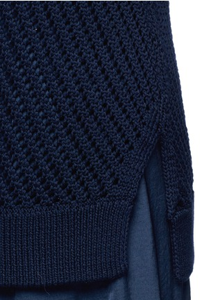 Detail View - Click To Enlarge - Vince - Mesh stitch cotton tank