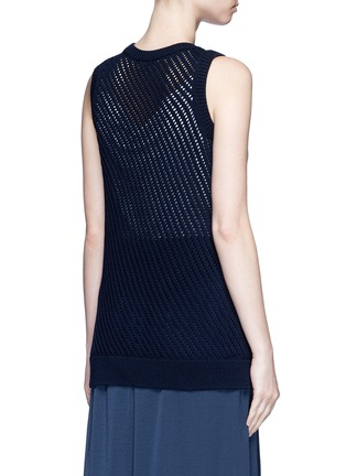 Back View - Click To Enlarge - Vince - Mesh stitch cotton tank