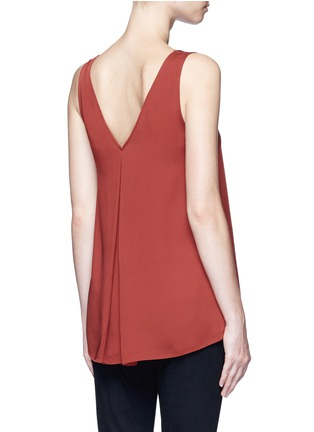 Back View - Click To Enlarge - Theory - 'Narcyz' V-neck silk shell top