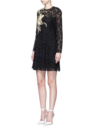Figure View - Click To Enlarge - Valentino - 'Kimono 1997 Re-Edition' floral patchwork lace dress