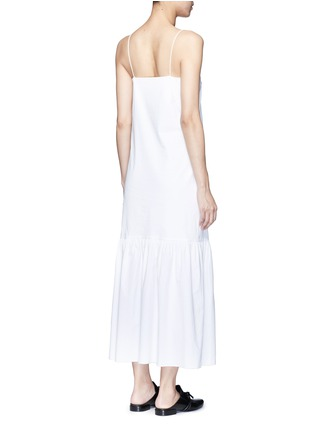 Back View - Click To Enlarge - THE ROW - 'Morin' cotton poplin maxi dress