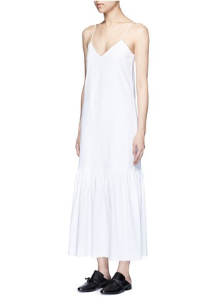 Front View - Click To Enlarge - THE ROW - 'Morin' cotton poplin maxi dress