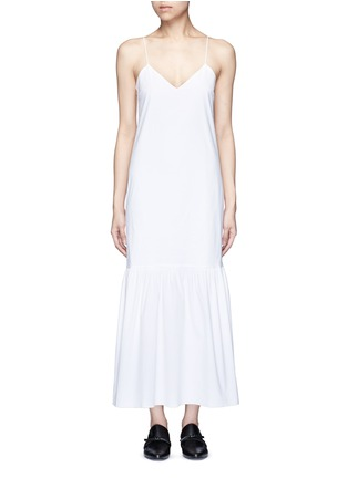 Main View - Click To Enlarge - THE ROW - 'Morin' cotton poplin maxi dress