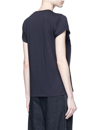 Back View - Click To Enlarge - Stella McCartney - Fringe star patch jersey T-shirt