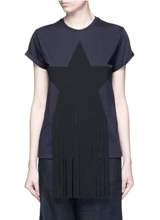 Main View - Click To Enlarge - Stella McCartney - Fringe star patch jersey T-shirt
