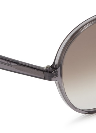 Detail View - Click To Enlarge - Valentino - Oversize round acetate sunglasses