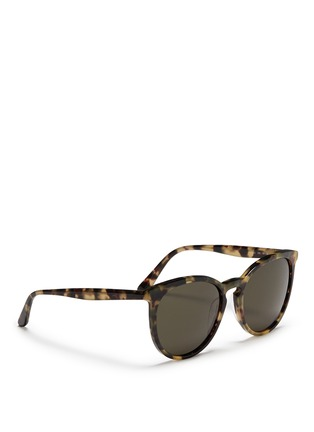 Figure View - Click To Enlarge - Valentino - Round frame tortoiseshell acetate sunglasses