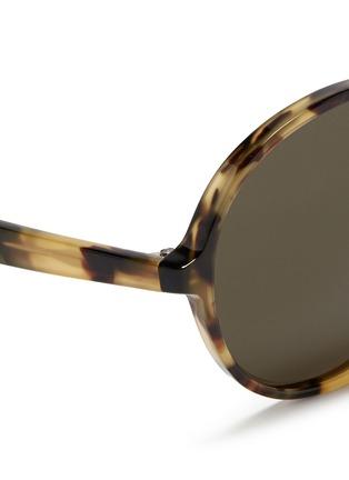 Detail View - Click To Enlarge - Valentino - Oversize round tortoiseshell acetate sunglasses