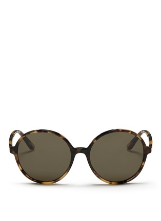 Main View - Click To Enlarge - Valentino - Oversize round tortoiseshell acetate sunglasses
