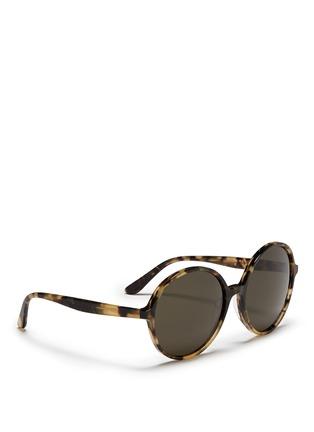 Figure View - Click To Enlarge - Valentino - Oversize round tortoiseshell acetate sunglasses