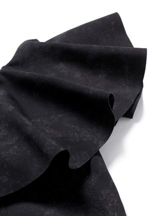 Detail View - Click To Enlarge - Lisa Marie Fernandez - 'Arden' flounce one-shoulder bonded swimsuit