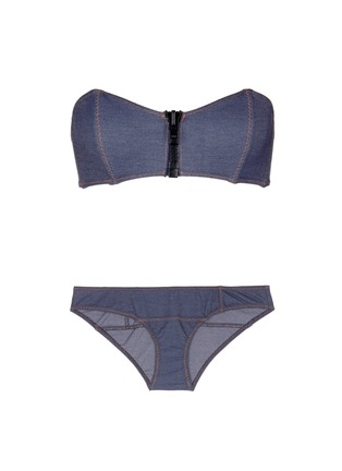 Main View - Click To Enlarge - Lisa Marie Fernandez - 'Lauren' denim effect bandeau set