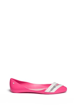 Main View - Click To Enlarge - Melissa - x Karl Lagerfeld 'Trippy' zip detail PVC flats