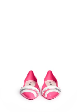 Figure View - Click To Enlarge - Melissa - x Karl Lagerfeld 'Trippy' zip detail PVC flats