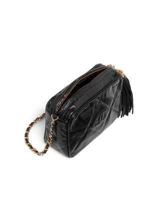 Detail View - Click To Enlarge - VINTAGE CHANEL - Small lizard leather crossbody camera bag