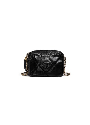 Back View - Click To Enlarge - VINTAGE CHANEL - Small lizard leather crossbody camera bag