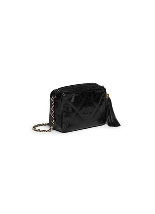 Figure View - Click To Enlarge - VINTAGE CHANEL - Small lizard leather crossbody camera bag