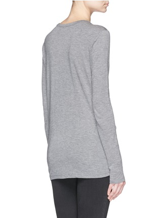 Back View - Click To Enlarge - T By Alexander Wang - Pocket T-shirt