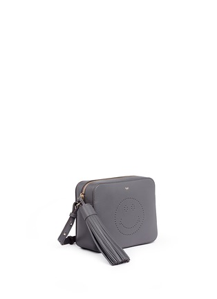 Front View - Click To Enlarge - Anya Hindmarch - 'Smiley' perforated leather crossbody bag
