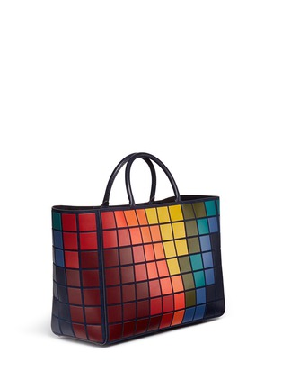 Figure View - Click To Enlarge - Anya Hindmarch - 'Pixels Maxi Featherweight Ebury' patchwork suede tote