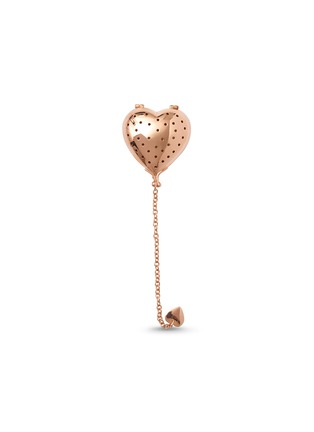 Main View - Click To Enlarge - FORTNUM & MASON - Rose gold-plated heart tea infuser