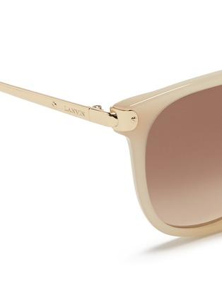 Detail View - Click To Enlarge - Lanvin - Metal temple acetate D-frame sunglasses
