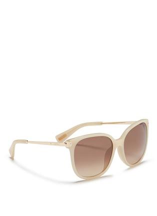 Figure View - Click To Enlarge - Lanvin - Metal temple acetate D-frame sunglasses