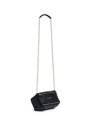 Front View - Click To Enlarge - GIVENCHY - 'Pandora' mini chain goat leather bag