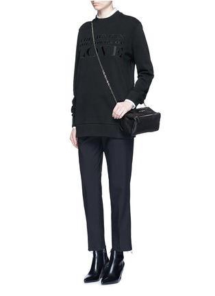Figure View - Click To Enlarge - GIVENCHY - 'Pandora' mini chain goat leather bag